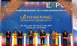 Hơn 500 doanh nghiệp trong nước và quốc tế tham dự Vietnam Expo 2017