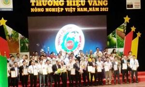 150 Thương hiệu Vàng Nông nghiệp Việt Nam năm 2017 được vinh danh