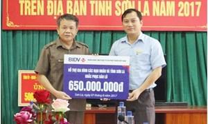 BIDV hỗ trợ thêm 200 triệu đồng cho 3 tỉnh chịu thiệt hại lũ lụt