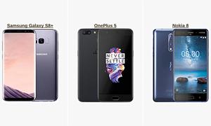 [Infographic] So sánh cấu hình Nokia 8 với OnePlus 5, Galaxy S8+ và iPhone 7 Plus