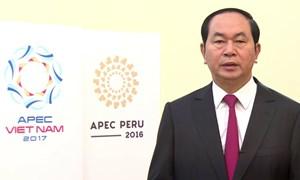 [Video] Chủ tịch nước Trần Đại Quang phát biểu tại Hội nghị Thượng đỉnh doanh nghiệp APEC 2017