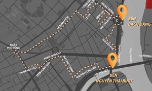[Video] Lộ trình ba tuyến xe điện chở khách đi buýt sông Sài Gòn