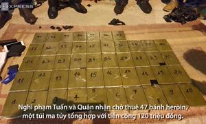 [Video] 47 bánh heroin giấu trong ôtô bị phát hiện ở Hà Nội