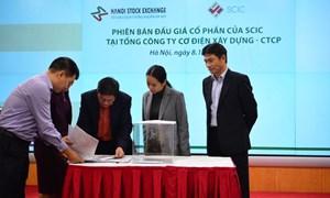3 phiên đấu giá thoái vốn của SCIC tại 3 công ty thu về hơn 476 tỷ đồng tại HNX