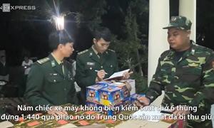 [Video] 180 kg pháo bị bắt trên đường từ Lào vào Việt Nam