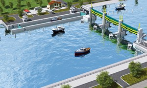 [Video] Cống ngăn triều khổng lồ đang xây dựng ở Sài Gòn