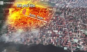 [Video] Sức ảnh hưởng rộng hơn một km sau vụ nổ kho phế liệu