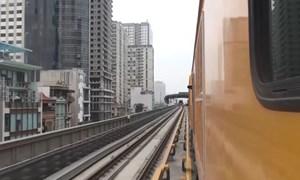 [Video] Chạy thử nghiệm tàu đường sắt Cát Linh - Hà Đông