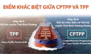 """[Infographic] """"Soi"""" những điểm khác biệt giữa CPTPP và TPP?"""