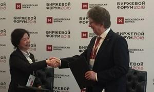 HNX và MOEX ký kết Biên bản ghi nhớ về hợp tác