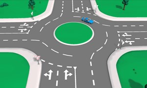 [Video] Những nguyên tắc lái xe qua vòng xuyến theo luật Việt Nam