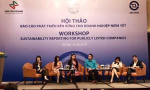 """Tổ chức hội thảo """"Báo cáo Phát triển bền vững cho doanh nghiệp niêm yết tại Việt Nam"""