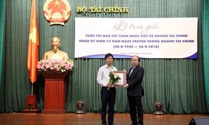[Video] Bộ Tài chính trao giải báo chí toàn quốc viết về ngành Tài chính