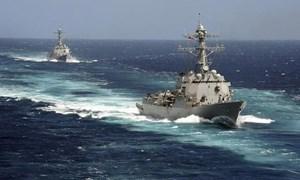 [Video] Hành trình tuần tra qua eo biển Đài Loan của hai tàu chiến Mỹ