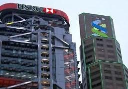 Kinh tế châu Á giảm tốc, HSBC và Standard Chartered lãnh hậu quả