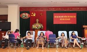 Kho bạc Nhà nước tích cực hưởng ứng phong trào hiến máu nhân đạo