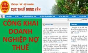 Hưng Yên: Bêu tên 50 doanh nghiệp nợ thuế