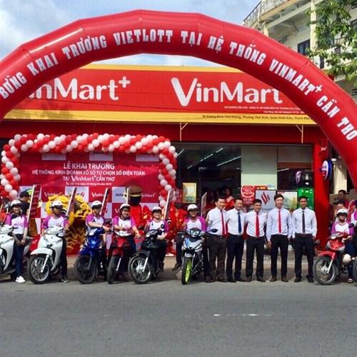 Vietlott liên tục mở rộng hệ thống kinh doanh  tại chuỗi cửa hàng Vinmart+