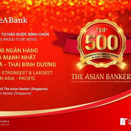 """SeABank được """"xướng tên"""" trong Top 500 ngân hàng lớn và mạnh nhất châu Á – Thái Bình Dương"""