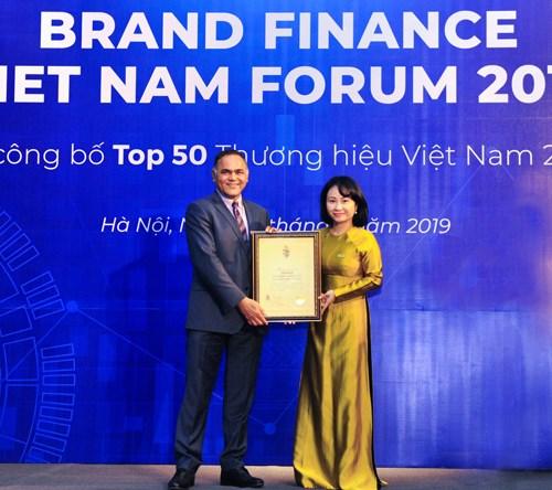 VietinBank nằm trong Top 10 Thương hiệu Việt Nam giá trị nhất 2019