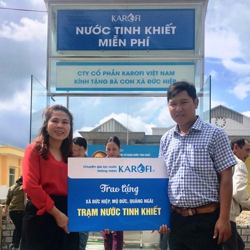 Karofi trao tặng Trạm nước sạch khử phèn quy mô lớn