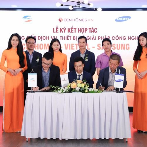 """Hai """"ông lớn"""" Viettel và Samsung bắt tay hợp tác với Cenhomes.vn"""