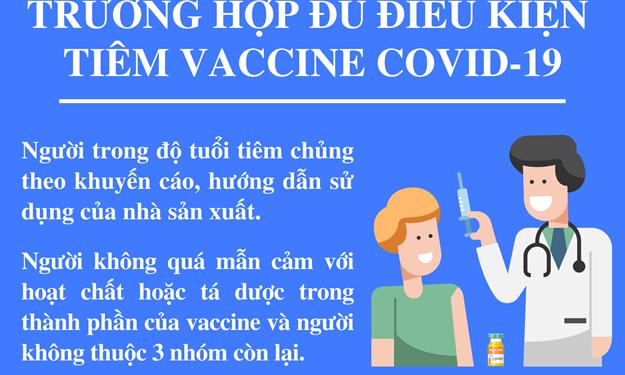 [Infographics] Ai không đủ điều kiện tiêm vắc xin Covid-19?