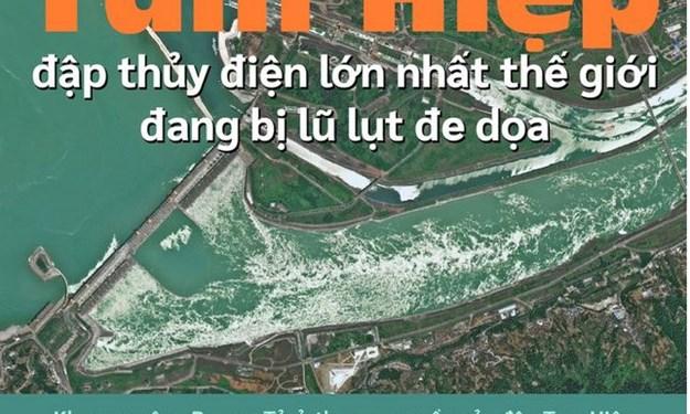 [Infographics] Tam Hiệp - đập thủy điện lớn nhất thế giới đang bị lũ lụt đe dọa