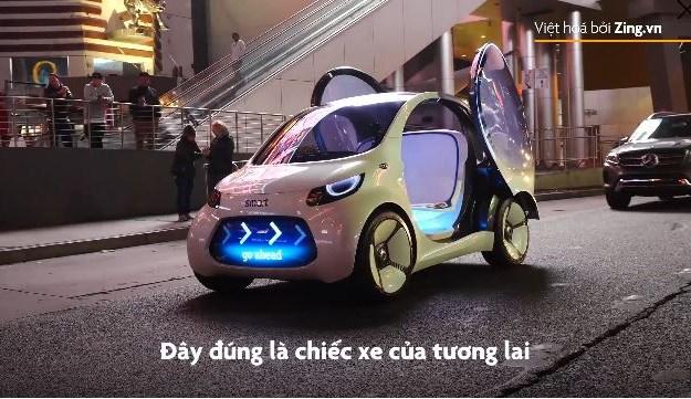 [Video] Xe điện không tay lái đầu tiên của Mercedes lộ diện