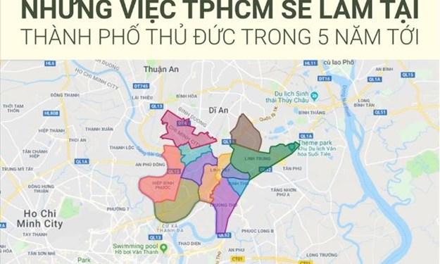 [Infographics] Những việc TP. Hồ Chí Minh sẽ làm tại TP. Thủ Đức trong 5 năm tới