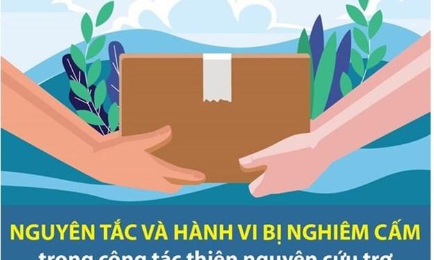[Infographics] Nguyên tắc, hành vi nghiêm cấm trong công tác cứu trợ vùng thiên tai