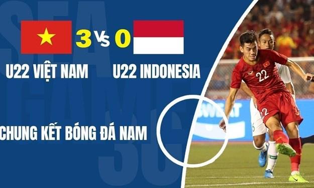 [Video] Highlights tại chung kết bóng đá SEA Games 30: U22 Việt Nam 3-0 Indonesia