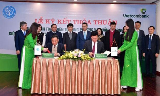 Vietcombank và Bảo hiểm xã hội Viêt Nam hợp tác thanh toán điện tử