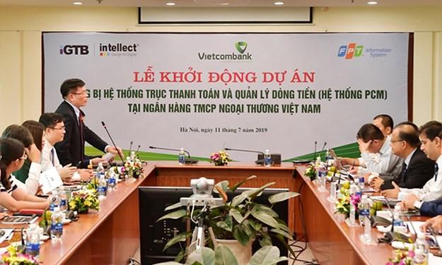 """Vietcombank khởi động Dự án """"Trang bị hệ thống trục Thanh toán và quản lý dòng tiền"""