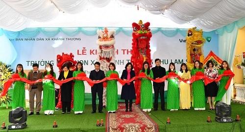 Vietcombank tài trợ 4,5 tỷ đồng xây trường học tại Ninh Bình