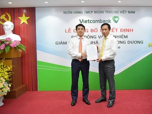 Vietcombank bổ nhiệm Giám đốc Chi nhánh Chương Dương