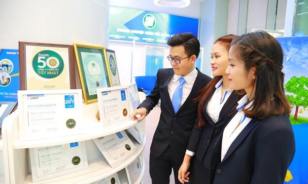 Bảo Việt dẫn đầu ngành Bảo hiểm trong Top 50 công ty niêm yết tốt nhất Việt Nam