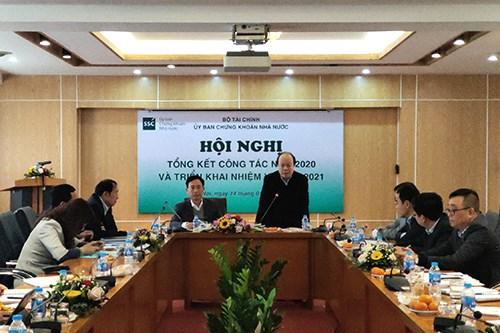 Ủy ban Chứng khoán Nhà nước tổ chức Hội nghị tổng kết công tác năm 2020 và triển khai nhiệm vụ năm 2021
