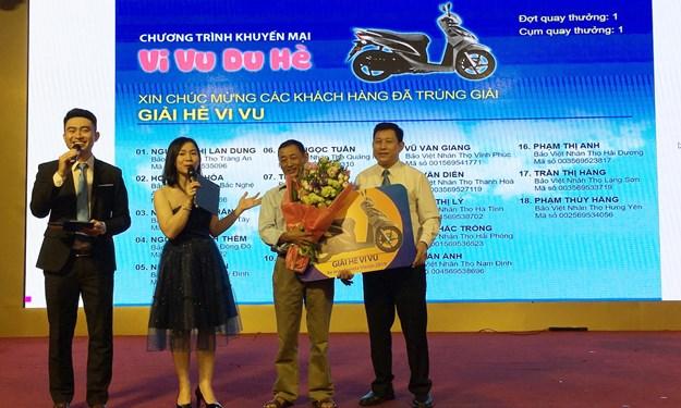 """216 khách hàng của Bảo Việt Nhân thọ nhận giải thưởng giá trị trong Chương trình  """"Vi Vu Du Hè"""""""