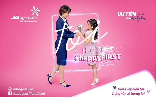 MB Ageas Life triển khai chiến dịch #happyFIRST nhân dịp 3 năm tham gia thị trường bảo hiểm nhân thọ