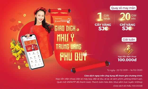 Giao dịch như ý, trúng vàng Phú Quý với Agribank E-Mobile Banking