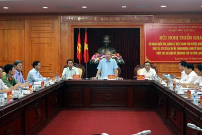 Triển khai kế hoạch kiểm tra, giám sát tại Lạng Sơn