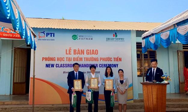 PTI trao tặng phòng học cho trường tiểu học Hưng Phước tại Bình Phước
