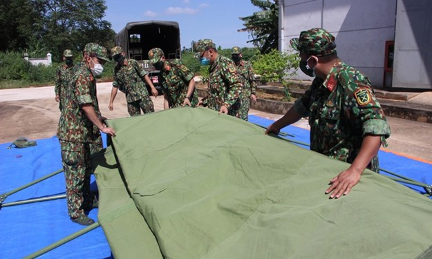 Xuất cấp nhà bạt, máy phát điện cho tỉnh Tây Ninh phòng, chống dịch COVID-19