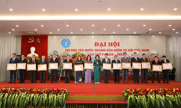 [Ảnh] Đại hội Thi đua yêu nước ngành BHXH Việt Nam lần thứ V (2020 - 2025)