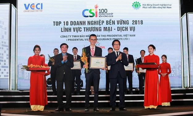 """Prudential – Top 10 """"doanh nghiệp bền vững tại Việt Nam"""""""