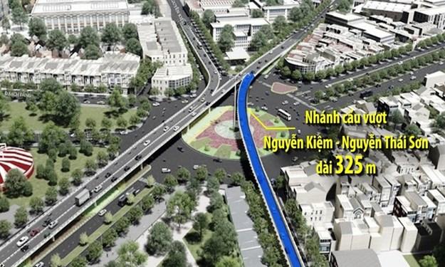 [Video] Nhánh cầu vượt cửa ngõ sân bay Tân Sơn Nhất chuẩn bị thông xe