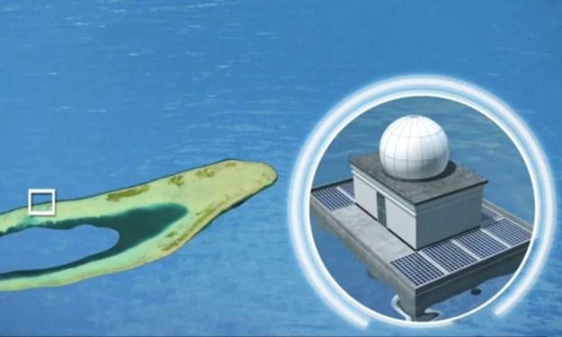 [Video] Cấu trúc bị nghi phục vụ mục đích quân sự Trung Quốc xây trái phép trên đá Bông Bay