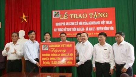 Agribank hỗ trợ 18 tỉ đồng cho Hà Giang