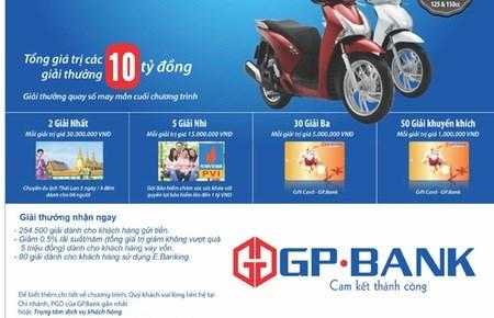 GP.Bank mở chương trình khuyến mãi lớn